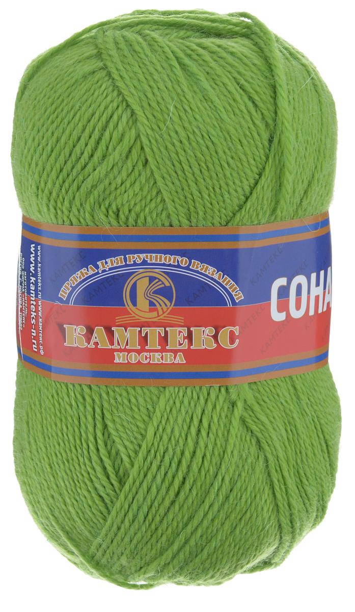Пряжа для вязания Камтекс Соната, цвет: липа, 250 м, 100 г, 10 шт136030_130Пряжа для вязания Камтекс Соната изготовлена из 50% шерсти, 50% акрила. Она вяжется легко и свободно, имеет богатую цветовую гамму от теплых пастельных тонов до ярких и смелых оттенков. Ворсистая ниточка ровно складывается в полотно, которое имеет минимальный процент усадки. Из пряжи Соната прекрасно вяжутся теплые туники, жилеты, свитера, платья и многие другие изделия. Рекомендуемые для вязания спицы и крючки 3-5 мм. Состав: 50% шерсть, 50% акрил. Толщина нити: 2 мм.