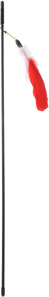 Дразнилка-удочка для кошек V.I.Pet Гусиное перо, цвет: белый, красный, 72 смVG-501_белый, красныйДразнилка-удочка V.I.Pet Гусиное перо доставит вашему питомцу массу удовольствия от игры с ней. Она представляет собой пластиковую палочку с веревкой, на которую прикреплены разноцветные перья. Дразнилка-удочка привлечет внимание кошек, которые любят общение, игры и охотиться. Игра с такой дразнилкой будет способствовать развитию и поддержанию мышц животного в тонусе. Длина палочки: 72 см. Размер игрушки: 16 см х 4 см х 0,5 см.