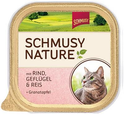 Консервы для кошек Шмуси говядина с птицей, 100 г70032Шмуси натура - это полноценная еда для кошек и котов с множеством натуральных ингредиентов. Корм Шмуси богат содержанием отборного мяса, потому что кошки - это настоящие хищники и нуждаются в пище, богатой белками. В этих ванночках маленькие кусочки мяса смешаны с паштетом. Кроме отборного мяса в корм добавлена мука из семян граната. Гранат благодаря своим антиоксидантным свойствам защищает клетки от так называемых свободных радикалов. Также добавлен таурин для правильного развития организма кошек. Состав: Говядина, домашняя птица, печень, мясные субпродукты, рис, минеральные вещества, мука семян граната. Условия хранения: комнатная температура в закрытом виде, после вскрытия до 2 дней в холодильнике. Особенности: Натуральные компоненты; Без сои, красителей, ароматизаторов, костной муки; Без консервантов Состав: Говядина;Птица;Печень
