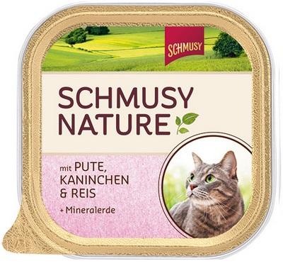 Консервы для кошек Шмуси индейка с кроликом, 100 г70033Шмуси натура - это полноценная еда для кошек и котов с множеством натуральных ингредиентов. Корм Шмуси богат содержанием отборного мяса, потому что кошки - это настоящие хищники и нуждаются в пище, богатой белками. В этих ванночках маленькие кусочки мяса смешаны с паштетом. Кроме отборного мяса в корм добавлена природная целебная глина, которая очень полезна для шерсти кошек. Также добавлен таурин для правильного развития организма кошек. Состав: Отборное мясо, индейка, лёгкие, кролик, печень, мясные субпродукты, рис, природная целебная глина, минеральные вещества. Условия хранения: комнатная температура в закрытом виде, после вскрытия до 2 дней в холодильнике. Особенности: Натуральные компоненты; Без сои, красителей, ароматизаторов, костной муки; Без консервантов Состав: Мясо;Индейка;Кролик