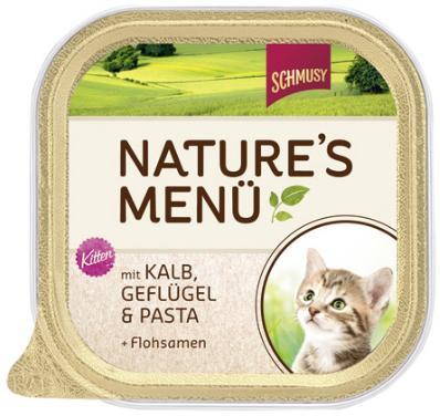 Консервы для котят Шмуси телятина с птицей, 100 г70038Шмуси натура - это полноценная еда для кошек и котов с множеством натуральных ингредиентов. Корм Шмуси богат содержанием отборного мяса, потому что кошки - это настоящие хищники и нуждаются в пище, богатой белками. В этих ванночках маленькие кусочки мяса смешаны с паштетом. Кроме отборного мяса в этот корм добавлены семена подорожника, которые регулируют пищеварение активных котят. Также добавлен таурин для правильного развития организма котят. Состав: Телятина, мясо домашней птицы, печень, мясные субпродукты, паста, минеральные вещества. Условия хранения: комнатная температура в закрытом виде, после вскрытия до 2 дней в холодильнике. Состав: Телятина, мясо домашней птицы, печень, мясные субпродукты, паста, минеральные вещества. Особенности: Натуральные компоненты; Без сои, красителей, ароматизаторов, костной муки; Без консервантов