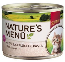 Консервы для котят Шмуси телятина с птицей, 190 г70058Шмуси натура - это полноценная еда для кошек и котов с множеством натуральных ингредиентов. Корм Шмуси богат содержанием отборного мяса, потому что кошки - это настоящие хищники и нуждаются в пище, богатой белками. В этих баночках плотно набитые кусочки мяса без жидкости. Кроме отборного мяса в этот корм добавлены семена подорожника, которые регулируют пищеварение активных котят. Также добавлен таурин для правильного развития организма котят. Состав: Телятина, мясо домашней птицы, печень, мясные субпродукты, паста, минеральные вещества. Условия хранения: комнатная температура в закрытом виде, после вскрытия до 2 дней в холодильнике. Особенности: Натуральные компоненты; Без сои, красителей, ароматизаторов, костной муки; Без консервантов Состав: Телятина;Птица;Печень