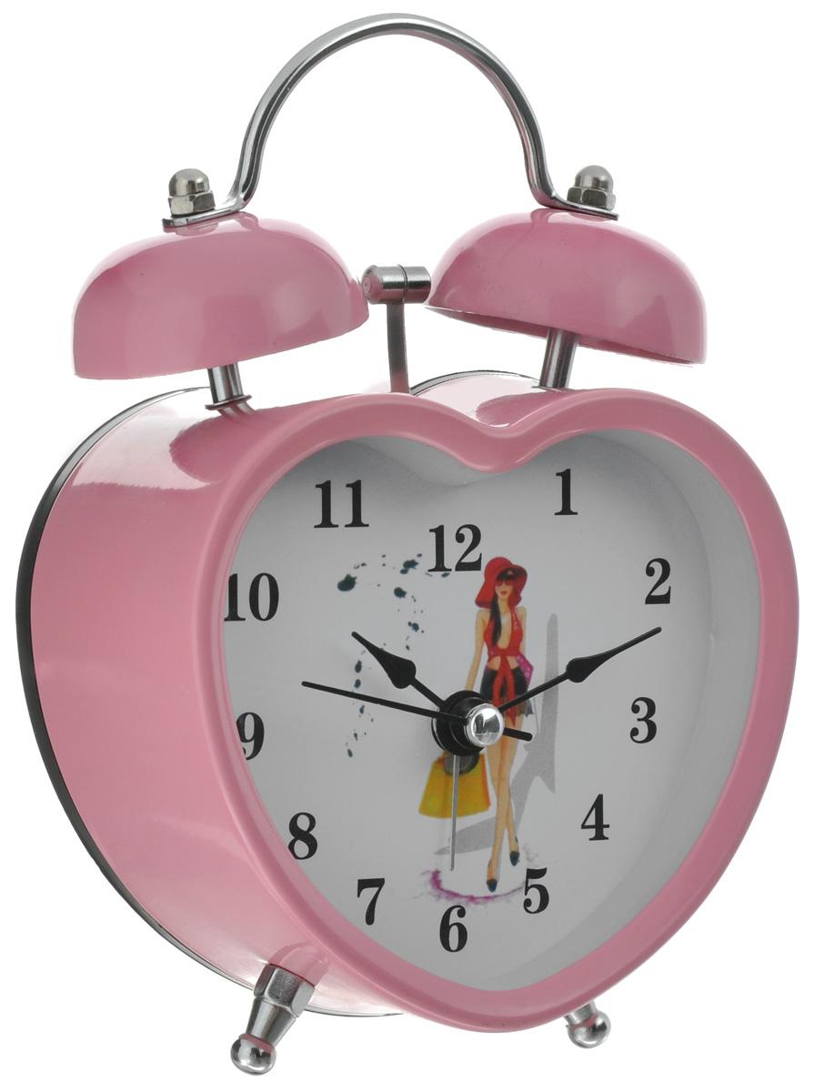 Часы-будильник Sima-land Девушка, цвет: розовый. 127203127203_ розовыйКак же сложно иногда вставать вовремя! Всегда так хочется поспать еще хотя бы 5 минут и бывает, что мы просыпаем. Теперь этого не случится! Яркий, оригинальный будильник Sima-land Девушка поможет вам всегда вставать в нужное время и успевать везде и всюду. Корпус будильника выполнен из металла в форме сердца. Часы снабжены 4 стрелками (минутная, часовая, секундная и для будильника). На задней панели будильника расположен переключатель включения/выключения механизма, а также два колесика для настройки текущего времени и времени звонка будильника. Изделие снабжено подсветкой, которая включается нажатием кнопки с задней стороны. Пользоваться будильником очень легко: нужно всего лишь поставить батарейку, настроить точное время и установить время звонка. Необходимо докупить 1 батарейку типа АА (не входит в комплект).