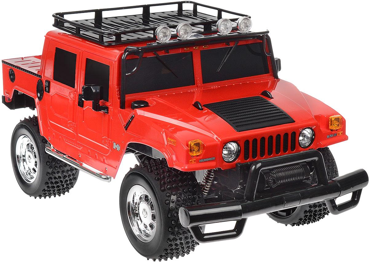 Rastar Радиоуправляемая модель Hummer H1 Sut цвет красный28700_красныйРадиоуправляемая модель Rastar Hummer H1 Sut станет отличным подарком любому мальчику! Все дети хотят иметь в наборе своих игрушек ослепительные, невероятные и крутые автомобили на радиоуправлении. Тем более, если это автомобиль известной марки с проработкой всех деталей, удивляющий приятным качеством и видом. Одной из таких моделей является автомобиль на радиоуправлении Rastar Hummer H1 Sut. Это точная копия настоящего авто в масштабе 1:6. Возможные движения: вперед, назад, вправо, влево, остановка. Имеются световые эффекты. Пульт управления работает на частоте 40 MHz. Игрушка работает на сменном аккумуляторе (входит в комплект). Для работы пульта управления необходима 1 батарейка 9V (6F22) (не входит в комплект).