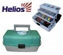 Ящик рыболова трехполочный зеленый HELIOS, Тонар40431Удобный и вместительный ящик с тремя выдвижными полками для различной рыболовной оснастки: поплавков, приманок, крючков и другой полезной мелочи. Количество секций варьируется от 24 до 34. На дно ящика можно положить 1-3 спиннинговых катушек. Материал: ударопрочный полипропилен. Размеры ящика: 400 х 200 х 220 мм. Вес: 1,45 кг. Состав материала: ударопрочный полипропилен