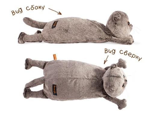 Кот-подушка, 1 штKp40-012Кот-подушка