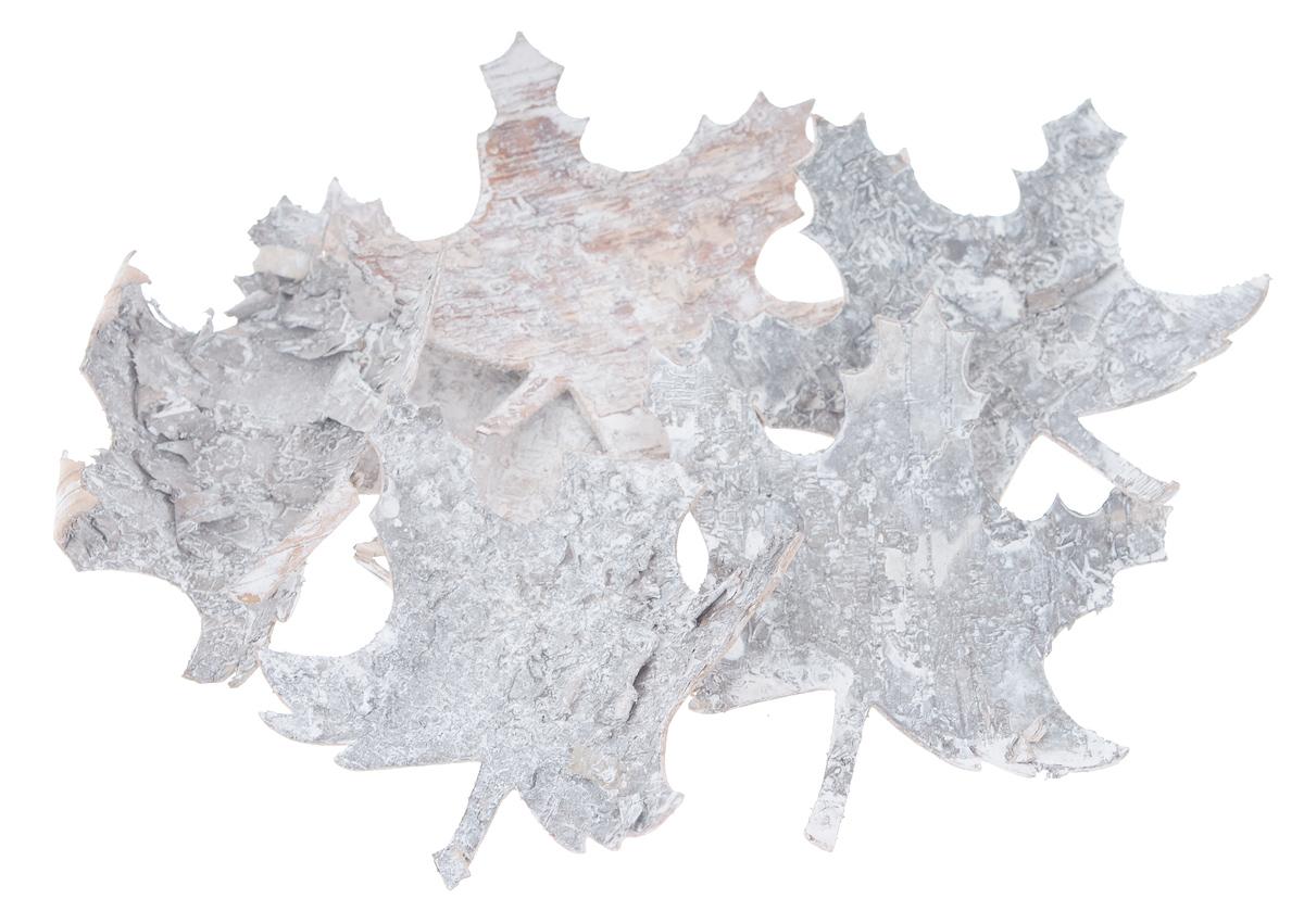 Декоративный элемент Dongjiang Art, цвет: белый, 6 шт. 77090137709013_ белыйДекоративные элементы Dongjiang Art, изготовленные из натуральной коры дерева в виде кленовых листов, предназначены для украшения цветочных композиций. Такие элементы могут пригодиться во флористике и многом другом. Флористика - вид декоративно-прикладного искусства, который использует живые, засушенные или консервированные природные материалы для создания флористических работ. Это целый мир, в котором есть место и строгому математическому расчету, и вдохновению. Средний размер элементов: 8,5 см х 10 см.