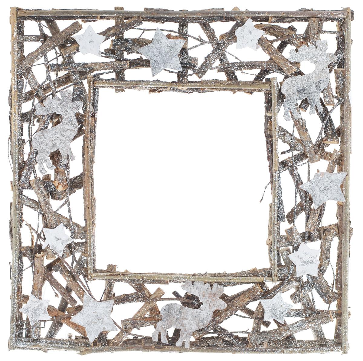 Рамка декоративная Dongjiang Art, 39 см х 39 см7708946Декоративная рамка Dongjiang Art используется как основа для последующего декорирования. Изделие изготовлено из деревянного каркаса и украшено блестками. Вы можете также украсить рамку лентами, фигурками, красивыми бусинами, цветной бумагой или другими материалами. Вы получите наслаждение от творчества и удивительно красивое украшение для вашего интерьера или замечательный подарок для близких людей!