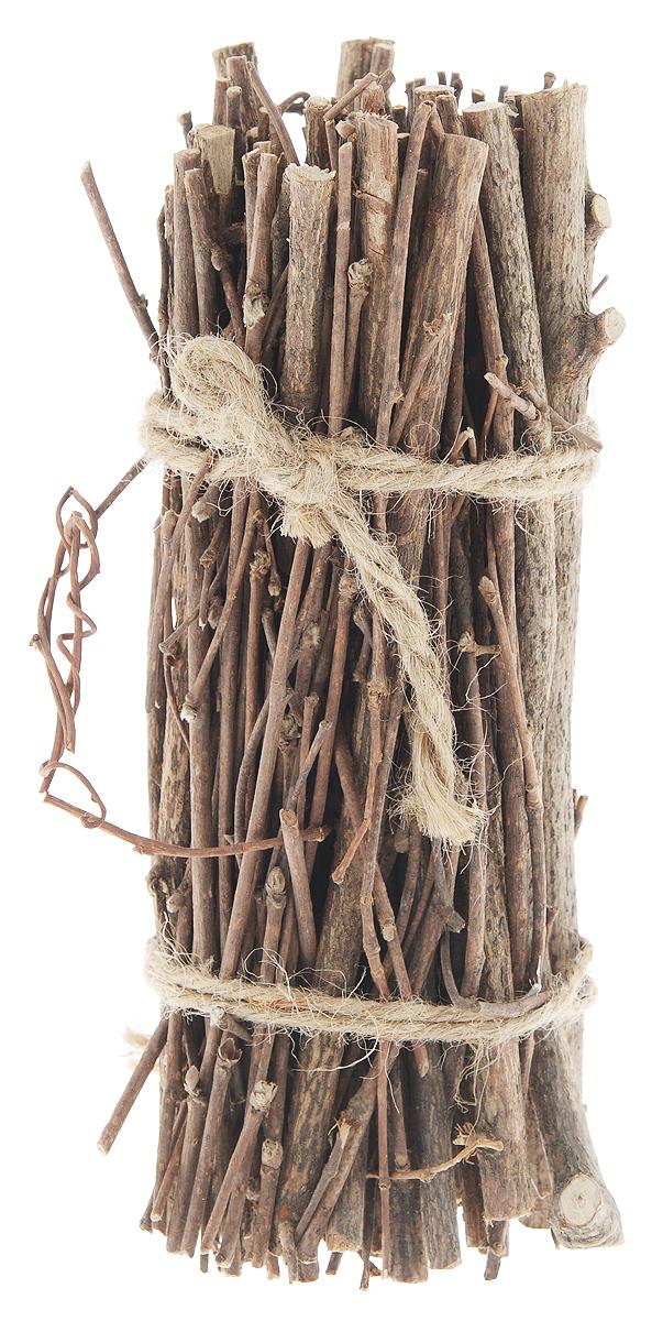 Декоративный элемент Dongjiang Art, цвет: натуральное дерево, длина 20 см. 77090287709028_нат/деревоДекоративный элемент Dongjiang Art, изготовленный из натурального дерева, предназначен для декорирования. Изделие представляет собой связку хвороста и может пригодиться во флористике. Флористика - вид декоративно-прикладного искусства, который использует живые, засушенные или консервированные природные материалы для создания флористических работ. Это целый мир, в котором есть место и строгому математическому расчету, и вдохновению, полету фантазии. Длина веток: 20 см. Средняя толщина веток: 5 мм.