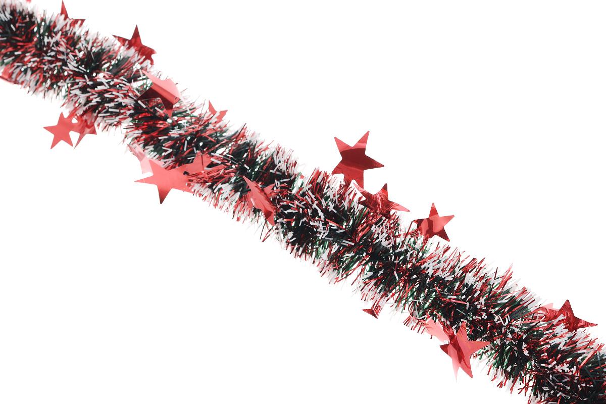 Мишура новогодняя Sima-land, цвет: красный, диаметр 5 см, длина 200 см. 702616702616_красныйНовогодняя мишура Sima-land, выполненная из фольги с белыми кончиками и декорированная звездочками, поможет вам украсить свой дом к предстоящим праздникам. А новогодняя елка с таким украшением станет еще наряднее. Мишура армирована, то есть имеет проволоку внутри и способна сохранять приданную ей форму. Новогодней мишурой можно украсить все, что угодно - елку, квартиру, дачу, офис - как внутри, так и снаружи. Можно сложить новогодние поздравления, буквы и цифры, мишурой можно украсить и дополнить гирлянды, можно выделить дверные колонны, оплести дверные проемы. Коллекция декоративных украшений из серии Зимнее волшебство принесет в ваш дом ни с чем несравнимое ощущение праздника! Создайте в своем доме атмосферу тепла, веселья и радости, украшая его всей семьей.