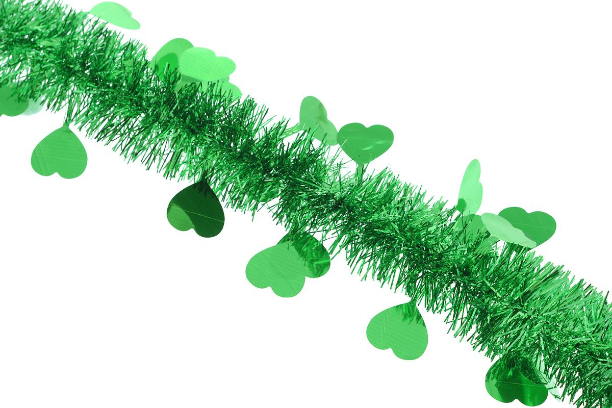 Мишура новогодняя Sima-land, цвет: зеленый, диаметр 5 см, длина 200 см. 702611702611_зеленыйНовогодняя мишура Sima-land, выполненная из фольги с дизайном в виде сердечек, поможет вам украсить свой дом к предстоящим праздникам. А новогодняя елка с таким украшением станет еще наряднее. Мишура армирована, то есть имеет проволоку внутри и способна сохранять приданную ей форму. Новогодней мишурой можно украсить все, что угодно - елку, квартиру, дачу, офис - как внутри, так и снаружи. Можно сложить новогодние поздравления, буквы и цифры, мишурой можно украсить и дополнить гирлянды, можно выделить дверные колонны, оплести дверные проемы. Коллекция декоративных украшений из серии Зимнее волшебство принесет в ваш дом ни с чем несравнимое ощущение праздника! Создайте в своем доме атмосферу тепла, веселья и радости, украшая его всей семьей.