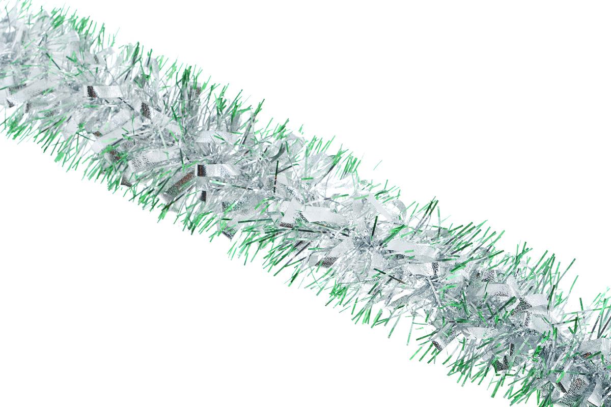 Мишура новогодняя Sima-land, цвет: зеленый, серебристый, диаметр 8 см, длина 200 см. 702579702579_зеленый, серебристыйНовогодняя мишура Sima-land, выполненная из фольги и декорированная матовыми серебристыми петельками, поможет вам украсить свой дом к предстоящим праздникам. А новогодняя елка с таким украшением станет еще наряднее. Мишура армирована, то есть имеет проволоку внутри и способна сохранять приданную ей форму. Новогодней мишурой можно украсить все, что угодно - елку, квартиру, дачу, офис - как внутри, так и снаружи. Можно сложить новогодние поздравления, буквы и цифры, мишурой можно украсить и дополнить гирлянды, можно выделить дверные колонны, оплести дверные проемы. Коллекция декоративных украшений из серии Зимнее волшебство принесет в ваш дом ни с чем несравнимое ощущение праздника! Создайте в своем доме атмосферу тепла, веселья и радости, украшая его всей семьей.