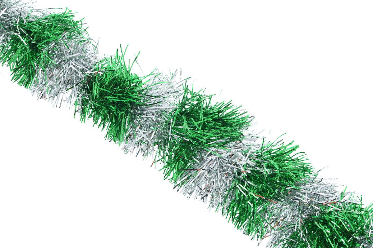 Мишура новогодняя Sima-land, цвет: зеленый, серебристый, диаметр 9 см, длина 200 см. 702588702588_зеленый, серебристыйДвухцветная новогодняя мишура Sima-land, выполненная из фольги, поможет вам украсить свой дом к предстоящим праздникам. А новогодняя елка с таким украшением станет еще наряднее. Мишура армирована, то есть имеет проволоку внутри и способна сохранять приданную ей форму. Новогодней мишурой можно украсить все, что угодно - елку, квартиру, дачу, офис - как внутри, так и снаружи. Можно сложить новогодние поздравления, буквы и цифры, мишурой можно украсить и дополнить гирлянды, можно выделить дверные колонны, оплести дверные проемы. Коллекция декоративных украшений из серии Зимнее волшебство принесет в ваш дом ни с чем несравнимое ощущение праздника! Создайте в своем доме атмосферу тепла, веселья и радости, украшая его всей семьей.