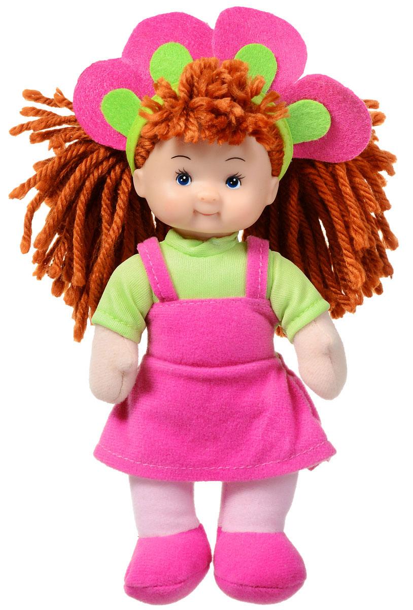 Simba Кукла мягкая цвет наряда розовый салатовый5017262_коричневые волосыМягкая кукла Simba непременно понравится малышке, она быстро привлечет внимание своей яркой расцветкой, добрым взглядом и красивым праздничным нарядом. Малышка с удовольствием придумает много детских игр, которые от души порадуют девочку и подарят хорошее настроение на целый день. Красивая и мягкая на ощупь кукла обязательно заинтересует малышку и увлечет ее в мир удивительных игр. Кукла одета в праздничное платье розового цвета. Очаровательные волосы коричневого цвета, сплетенные из нитей, дополняют прекрасный образ куклы. Мягкая кукла Simba поможет в развитии тактильной чувствительности, стимулируют зрительное восприятие, хватательные рефлексы и моторику рук.