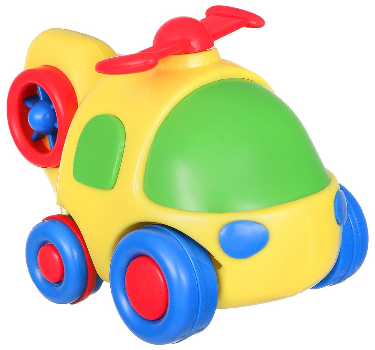 Simba Вертолет инерционный цвет желтый4015832_желтыйЯркая игрушка Simba Вертолет привлечет внимание вашего малыша и не позволит ему скучать! Выполненная из безопасного пластика, игрушка представляет собой забавный вертолет. Округлые без острых углов формы гарантируют безопасность даже самым маленьким. Для запуска, установите игрушку на поверхность, оттяните ее назад или прокатите вперед и отпустите, игрушка продолжит движение. Во время движения пропеллер начинает вращаться. Инерционная игрушка Вертолет поможет ребенку в развитии воображения, мелкой моторики рук, концентрации внимания и цветового восприятия.