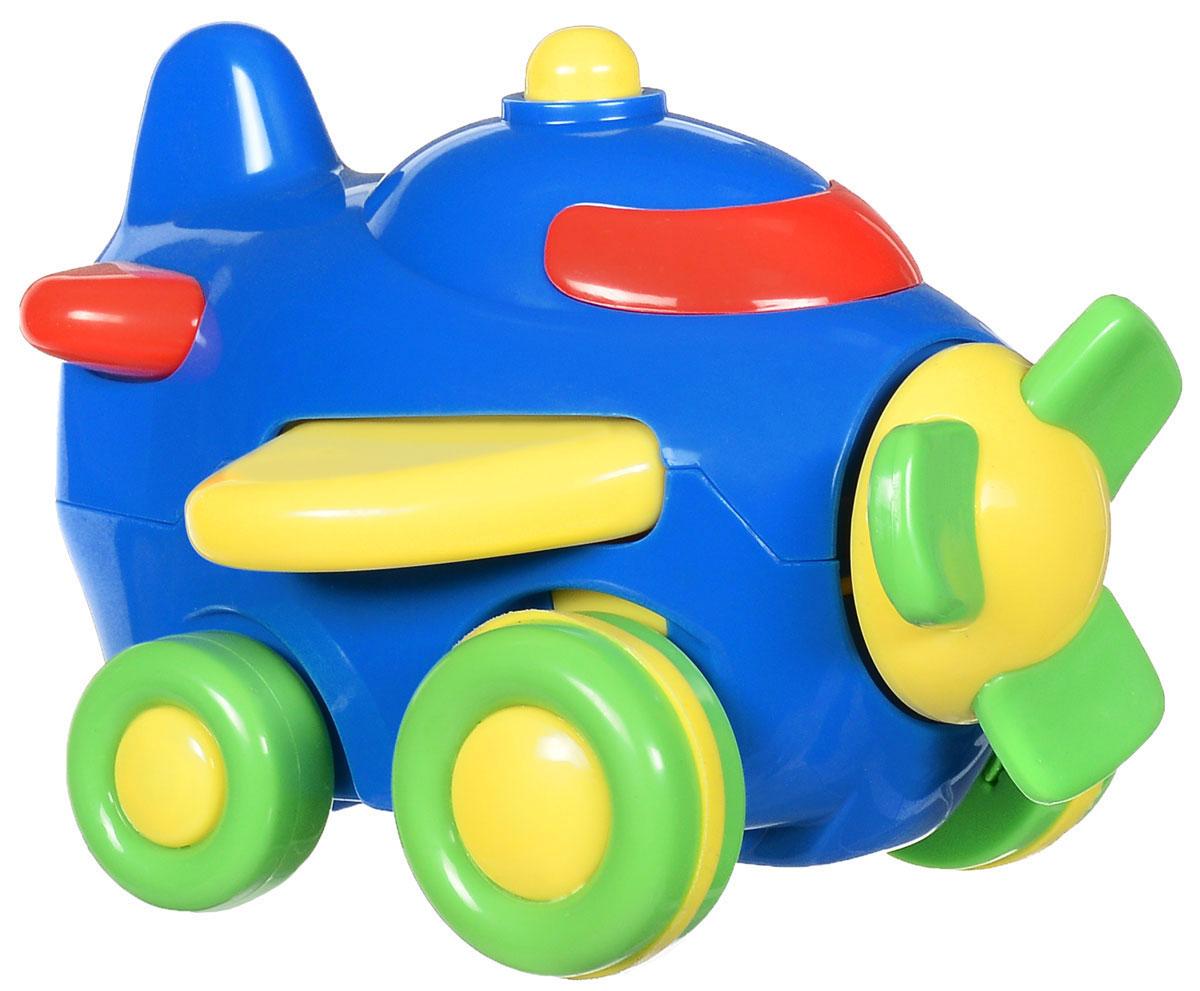 Simba Самолет инерционный цвет синий4015832_синийЯркая игрушка Simba Самолет привлечет внимание вашего малыша и не позволит ему скучать! Выполненная из безопасного пластика, игрушка представляет собой самолетик. Округлые без острых углов формы гарантируют безопасность даже самым маленьким. Для запуска, установите игрушку на поверхность, оттяните ее назад или прокатите вперед и отпустите, игрушка продолжит движение. Во время движения воздушный винт начинает вращаться. Инерционная игрушка Самолет поможет ребенку в развитии воображения, мелкой моторики рук, концентрации внимания и цветового восприятия.