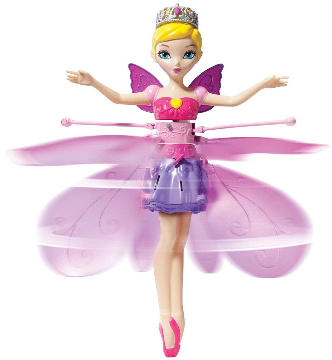 Flying Fairy Кукла Принцесса парящая в воздухе35822Кукла Flying Fairy Фея приведет в восторг вашу малышку, ведь это фея, которая действительно летает! Куколка, выполненная из пластика, представляет собой милую фею, одетую в платье сиреневого и розового цветов. В комплект с куколкой входит специальная база-подставка для нее. Чтобы запустить фею, необходимо активировать платформу. Поместите куклу на платформу и нажмите стартовую кнопку - фея взлетит! Можно просто наблюдать за ее полетом или управлять им с помощью рук. Порадуйте свою малышку таким волшебным подарком! Перед полетом игрушку Flying Fairy необходимо зарядить. Минимальное время зарядки 5 минут. Полная зарядка 30 минут. Возможна зарядка от USB. Элемент питания: литий-полимерная батарея емкостью 140 мАч.