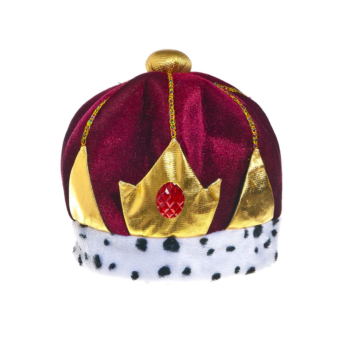 Шляпа карнавальная Lunten Ranta Царь66214Карнавальная шляпа Lunten Ranta Царь выполнена из мягкого бархатистого на ощупь полиэстера. Изделие представляет собой царскую шапку, украшенную разноцветными стразами, крупным красным камнем и золотистыми элементами. Карнавальная шляпа Царь великолепно дополнит образ вашего персонажа, подчеркнет его характер и сформирует облик в целом. Если у вас намечается веселая вечеринка или маскарад, то такая шляпа легко поможет создать праздничный наряд. Внесите нотку задора и веселья в ваш праздник. Веселое настроение и масса положительных эмоций вам будут обеспечены! Высота шляпы: 25 см. Диаметр основания: 22 см.