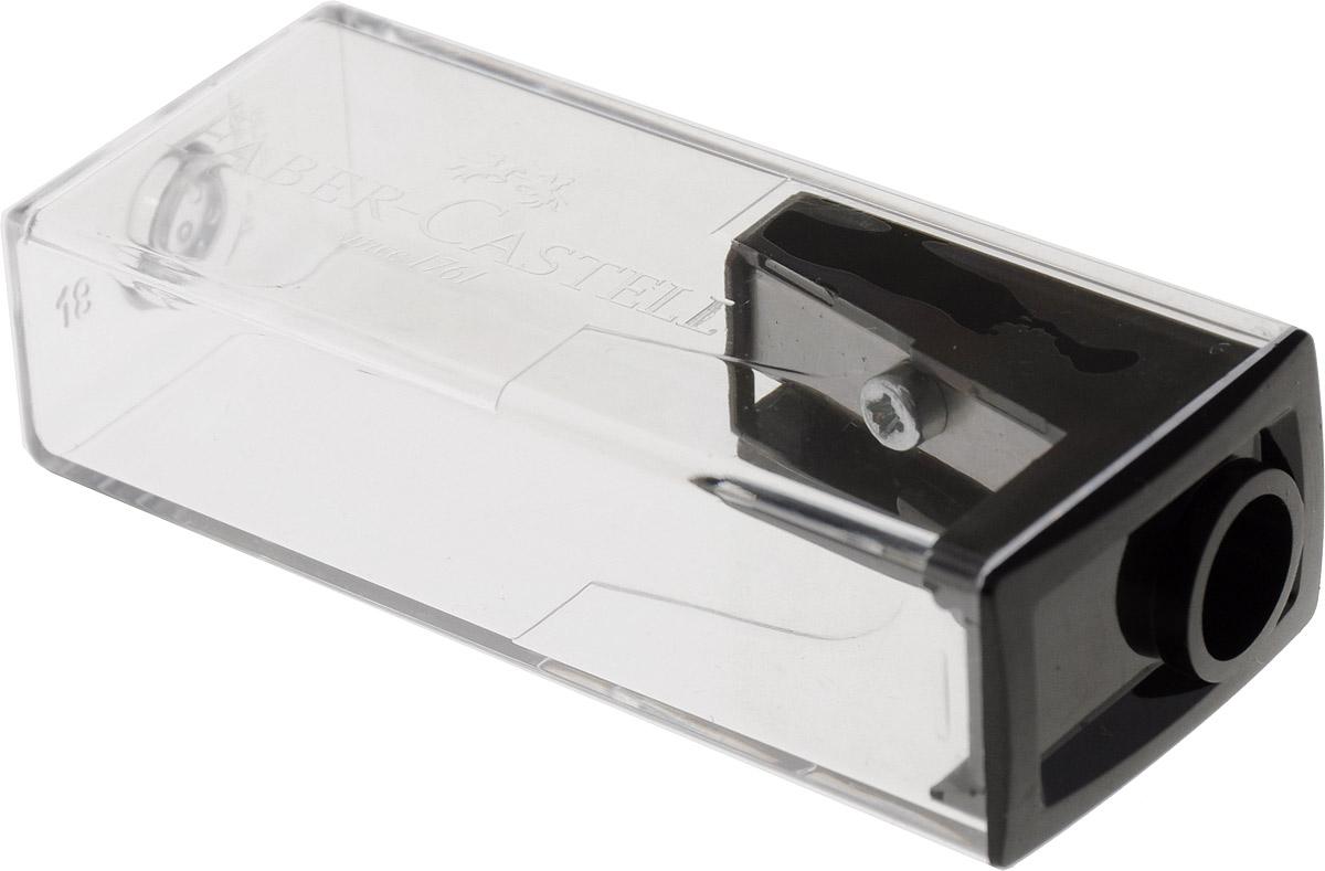 Faber-Castell Точилка с контейнером цвет черный263222_черныйТочилка Faber-Castell предназначена для затачивания карандашей диаметром 8 мм. Прозрачный контейнер позволяет определить уровень заполнения и вовремя произвести очистку. Острые стальные лезвия обеспечивают высококачественную и точную заточку деревянных карандашей.