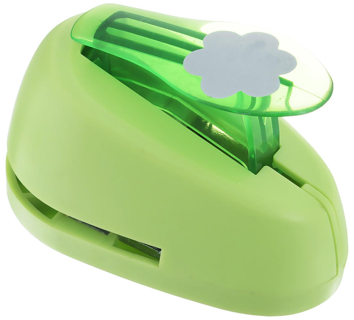 Дырокол фигурный Hobbyboom Цветок, №3, цвет: зеленый, 2,5 смCD-99M-003_зеленыйДырокол фигурный Hobbyboom Цветок, выполненный из прочного пластика и металла, используется в скрапбукинге для украшения открыток, карточек, коробочек и прочего. Применяется для прорезания фигурных отверстий в бумаге в форме цветов. Вырезанный элемент также можно использовать для украшения. Предназначен для бумаги плотностью от 80 до 200 г/м2. При применении на бумаге большей плотности или на картоне, дырокол быстро затупится. Чтобы заточить нож компостера, нужно прокомпостировать самую тонкую наждачку. Размер дырокола: 4,7 см х 8 см х 5,5 см. Диаметр готовой фигурки: 2,5 см.