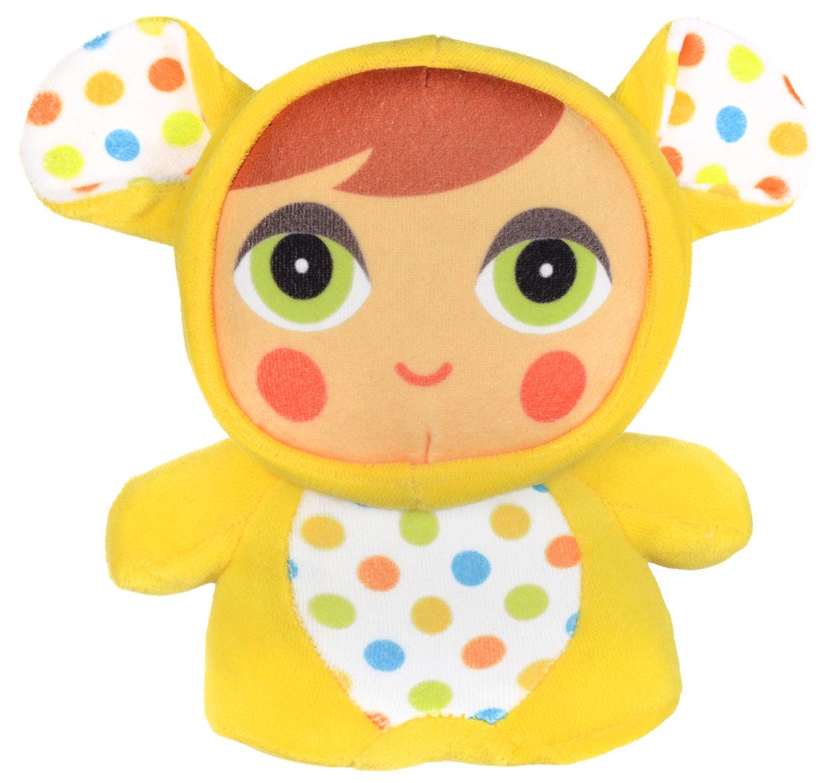 Mommy Love Развивающая игрушка Глазки в глазки цвет желтыйCHL0\M3_желтыйРазвивающая игрушка Mommy Love Глазки в глазки - это маленький человечек в костюме зверушки. Благодаря большим глазам игрушки достигается эффект глаза в глаза, который ускоряет социализацию ребенка. Шуршащие ушки и встроенная погремушка развивают слух, приятный на ощупь материал, специальная форма игрушки и подобранная цветовая гамма удовлетворяют потребности ребенка в телесно-кинестетических, визуальных и вербальных контактах, самых важных до 3-х лет.