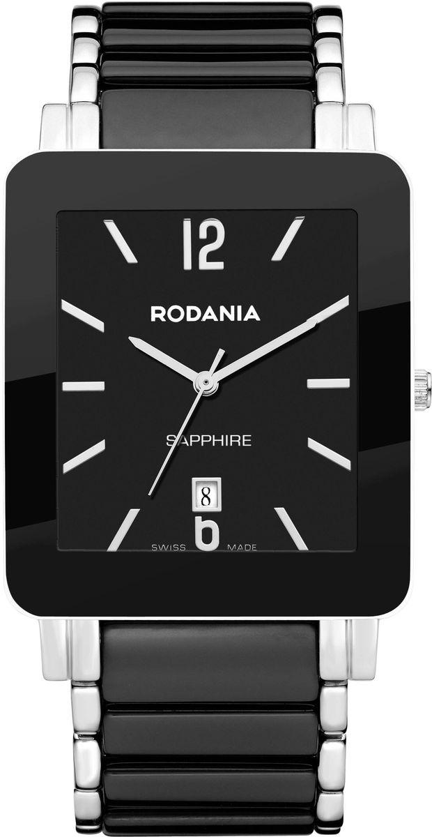 Часы мужские наручные Rodania, цвет: черный. 25123462512346Стильные мужские часы Rodania выполнены из нержавеющей стали, керамики и сапфирового стекла. Изделие оформлено символикой бренда. Корпус часов выполнен из нержавеющей стали, оснащен кварцевым механизмом Ronda 505 и имеет степень влагозащиты равную 3 atm. Часы оснащены индикатором даты. Браслет изделия дополнен практичной раскладывающейся застежкой, которая позволит моментально снимать и одевать часы без лишних усилий. Изделие поставляется в фирменной упаковке. Часы Rodania подчеркнут мужской характер и отменное чувство стиля у их обладателя.