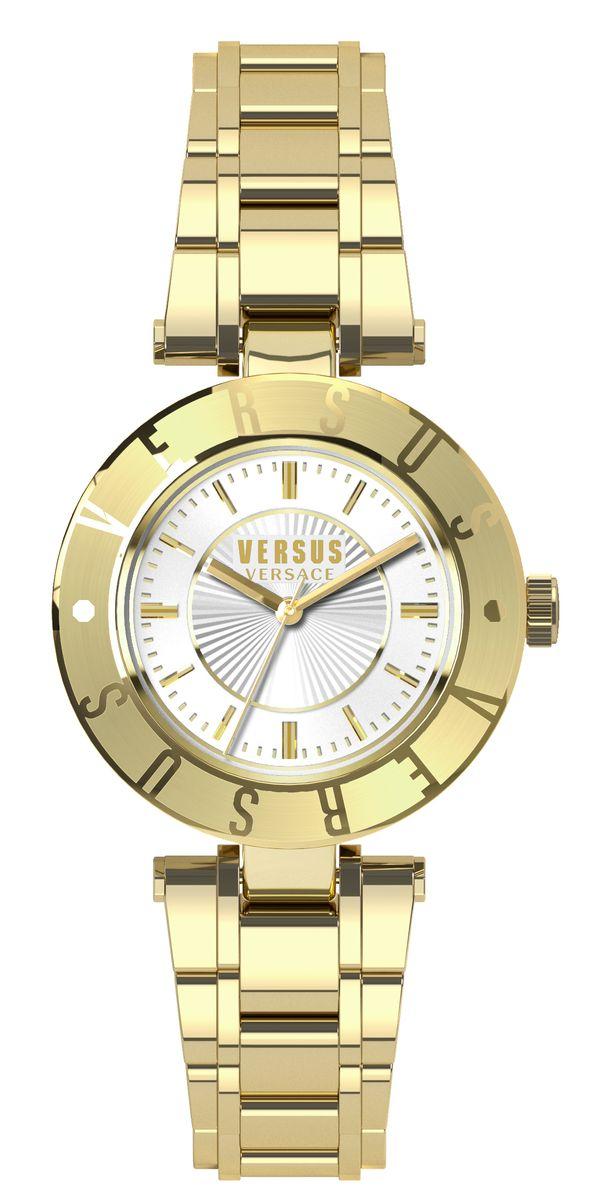 Часы женские наручные Versus Versace, цвет: белый, золотой. SP8200015SP8200015Оригинальные женские часы Versus Versace выполнены из нержавеющей стали и минерального стекла. Изделие дополнено символикой бренда. Корпус часов выполнен из нержавеющей стали, дополнен минеральным стеклом и имеет степень влагозащиты равную 3 atm. Браслет оснащен практичной раскладной застежкой, которая позволит моментально снимать и надевать часы без лишних усилий. Часы поставляются в фирменной упаковке. Часы Versus Versace подчеркнут изящность женской руки и отменное чувство стиля у их обладательницы.