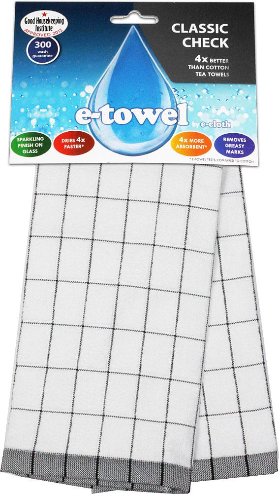 Кухонное полотенце E-cloth Классическая клетка, цвет: белый, черный, 60 см х 40 см20391_белый, черныйКухонное полотенце E-cloth Классическая клетка изготовлено из смеси волокон e-towel и хлопка. Полотенце имеет классический дизайн с принтом в клетку, поэтому впишется в интерьер любой кухни. Обладает в 4 раза большей впитывающей способностью, чем обычные полотенца. Не оставляет разводов и отпечатков пальцев. Такое полотенце станет прекрасным помощником у вас на кухне. Материал: 60% полиэстер, 40% хлопок.