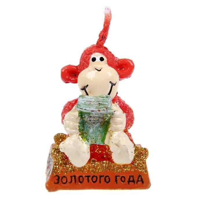 Свеча декоративная Sima-land Золотого года, высота 4 см1067417Декоративная свеча Sima-land Золотого года выполнена из воска в виде обезьянки с деньгами. Изделие отличается ярким дизайном, который понравится всем. Такая свеча может стать отличным подарком или дополнить интерьер вашей комнаты.