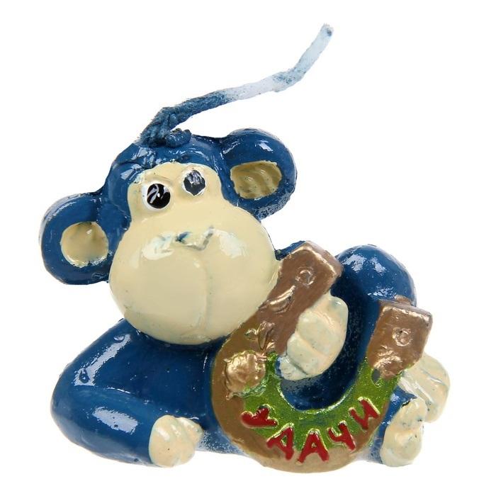 Свеча декоративная Sima-land Удачи, высота 4 см1067414Декоративная свеча Sima-land Удачи выполнена из воска в виде обезьянки с подковой. Изделие отличается ярким дизайном, который понравится всем. Такая свеча может стать отличным подарком или дополнить интерьер вашей комнаты.
