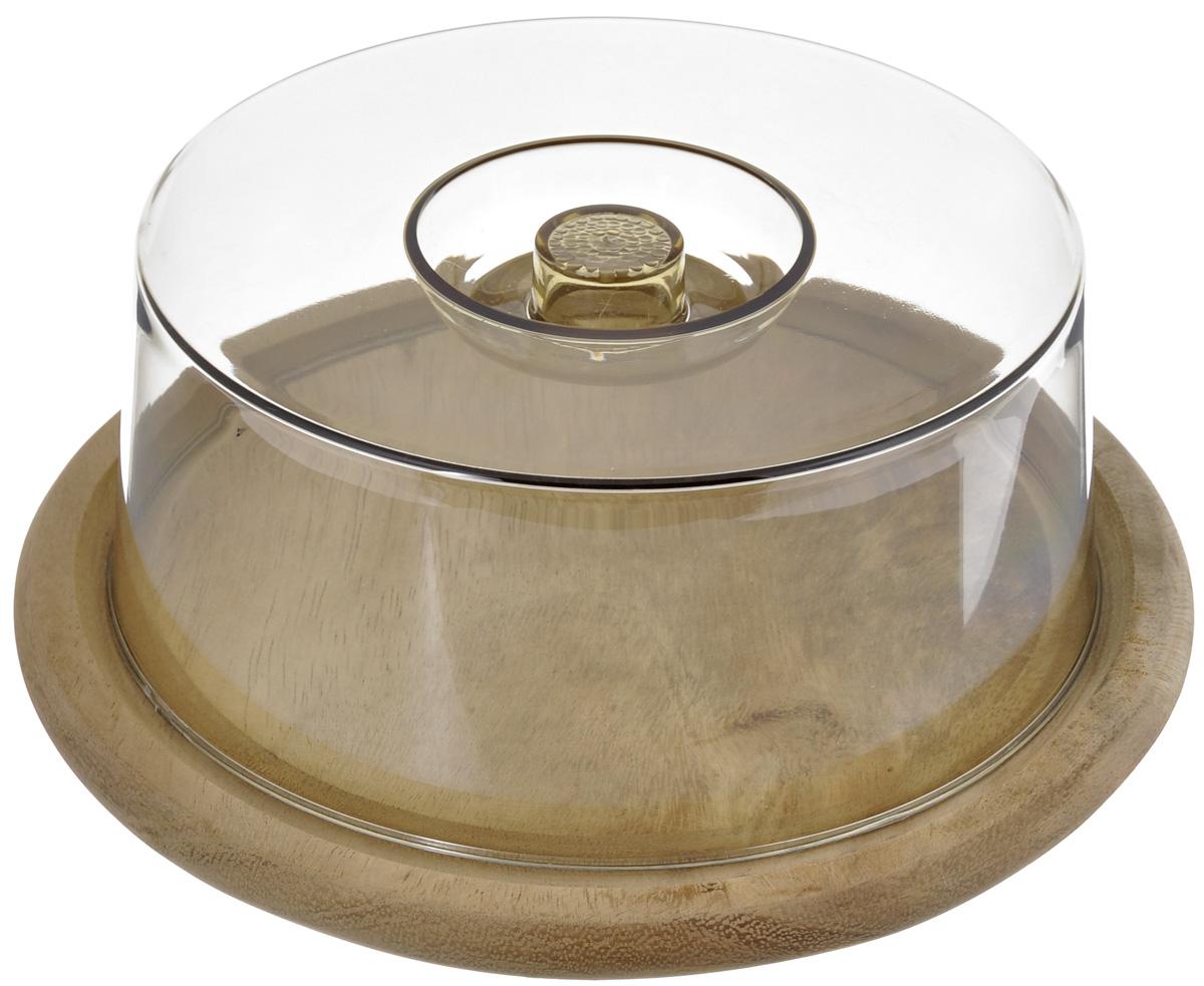 Колпак для хлеба и сыра Kesper, диаметр 23 см. 5664-15664-1Колпак для хлеба и сыра Kesper представляет собой круглое деревянное основание и прозрачную пластиковую крышку. Основание можно использовать в качестве разделочной доски, здесь удобно нарезать хлеб, сыр и другие продукты, а после нарезки пищу не обязательно перекладывать в другую посуду, можно просто накрыть крышкой, убрать в холодильник или оставить на столе. Крышка предотвратит заветривание и сохранит пищу свежей. Диаметр основания: 23 см. Высота изделия (с крышкой): 8,5 см.