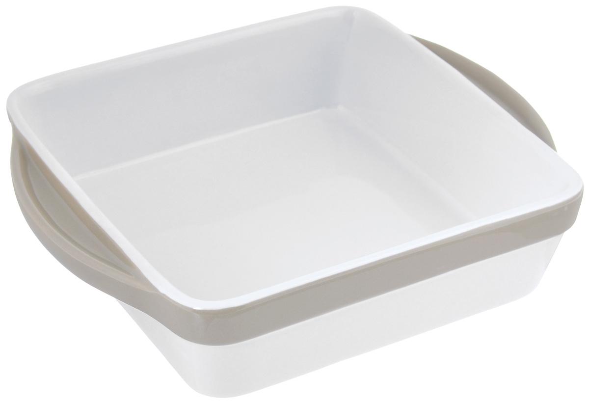 Блюдо для запекания BergHOFF Eclipse, 24,5 x 20,5 см3700462Квадратное блюдо для запекания BergHOFF Eclipse изготовлено из жаропрочной керамики с нанесением высококачественной глазури, что обеспечивает оптимальное распределение тепла. Изделие легко чистится и устойчиво к царапинам и пятнам. Блюдо станет отличным дополнением к вашему кухонному инвентарю, а также украсит сервировку стола и подчеркнет ваш прекрасный вкус. Можно мыть в посудомоечной машине, использовать в микроволновой печи и духовке. Размер блюда по верхнему краю (без учета ручек): 20,5 см х 20,5. Размер блюда по верхнему краю (с учетом ручек): 24,5 см х 20,5. Высота стенок: 6 см.