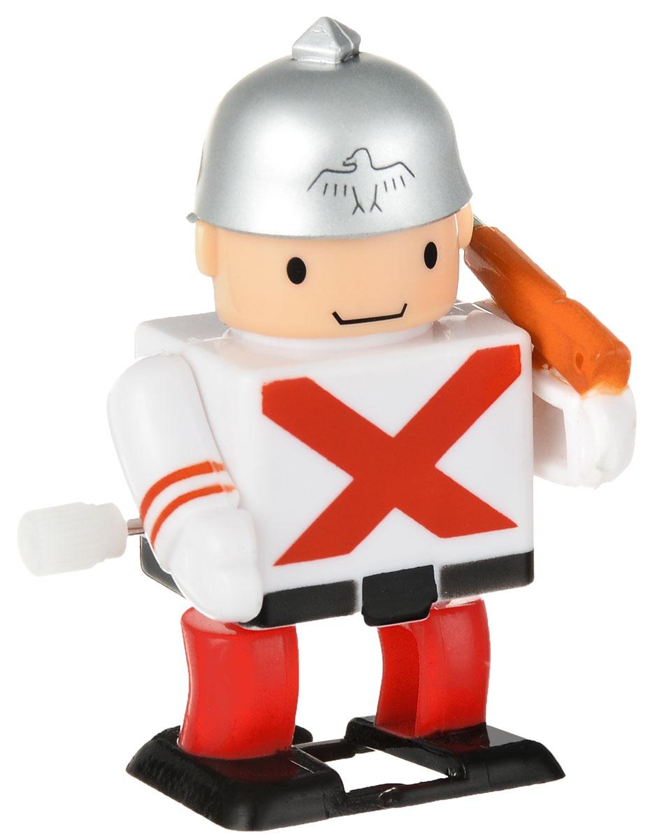 Hans Игрушка заводная Солдат цвет белый красный2K-41BD_белый, красныйЗаводная игрушка Hans Солдат с механическим заводом непременно понравится малышу и станет его любимой игрушкой! Заведите игрушку с помощью специального рычажка, и она начнет двигаться. Игра с заводными игрушками способствует приятному времяпрепровождению, стимулирует ребенка к активным действиям, научит устанавливать причинно-следственные связи. Мелкие детали и разнофактурные материалы благоприятствуют развитию тактильных ощущений и моторики пальчиков, а яркие цвета и забавные формы стимулируют зрение.