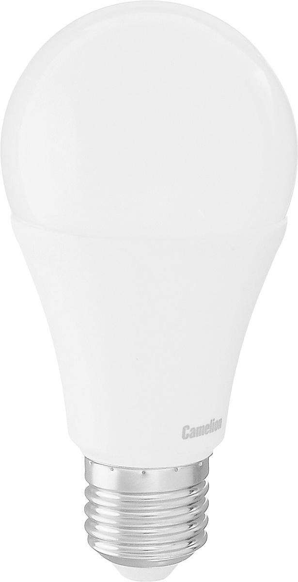 Лампа светодиодная Camelion, теплый свет, цоколь Е27, 13WLED13-A60/830/E27Энергосберегающая лампа Camelion - это инновационное решение, разработанное на основе новейших светодиодных технологий (LED) для эффективной замены любых видов галогенных или обыкновенных ламп накаливания во всех типах осветительных приборов. Она хорошо подойдет для освещения квартир, гостиниц и ресторанов. Лампа не содержит ртути и других вредных веществ, экологически безопасна и не требует утилизации, не выделяет при работе ультрафиолетовое и инфракрасное излучение. Напряжение: 220-240 В / 50 Гц. Индекс цветопередачи (Ra): 77. Угол светового пучка: 270°. Использовать при температуре: от -30° до +40°.