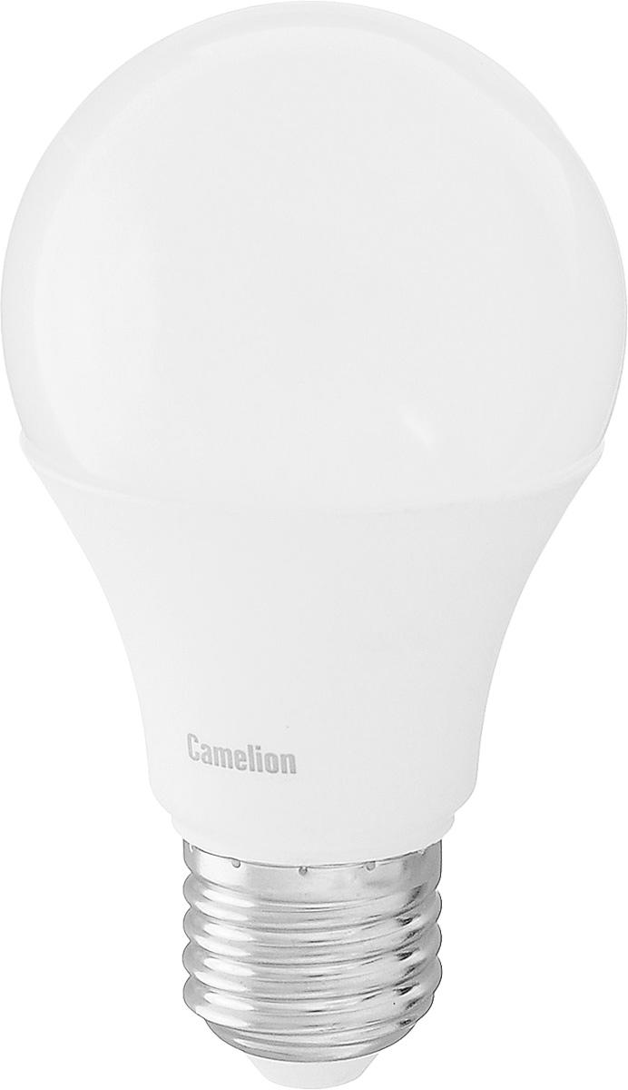 Лампа светодиодная Camelion, теплый свет, цоколь Е27, 11W11-A60/830/E27Энергосберегающая лампа Camelion - это инновационное решение, разработанное на основе новейших светодиодных технологий (LED) для эффективной замены любых видов галогенных или обыкновенных ламп накаливания во всех типах осветительных приборов. Она хорошо подойдет для освещения квартир, гостиниц и ресторанов. Лампа не содержит ртути и других вредных веществ, экологически безопасна и не требует утилизации, не выделяет при работе ультрафиолетовое и инфракрасное излучение. Напряжение: 220-240 В / 50 Гц. Индекс цветопередачи (Ra): 82+. Угол светового пучка: 270°. Использовать при температуре: от -30° до +40°.