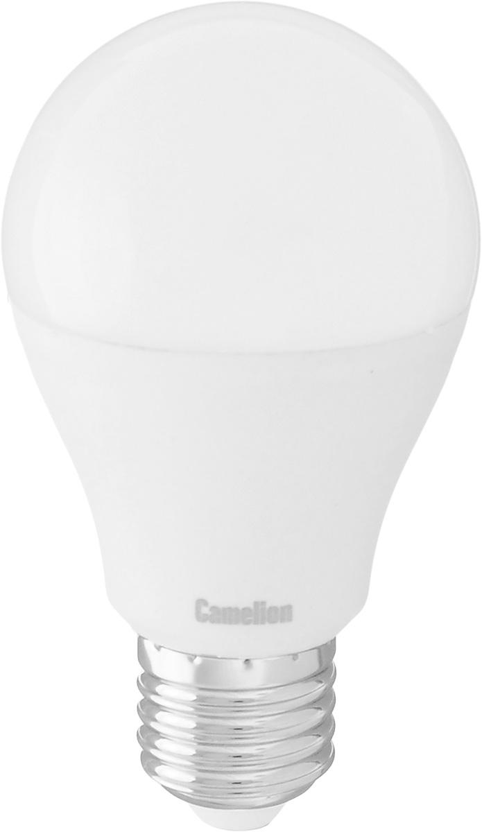 Лампа светодиодная Camelion, теплый свет, цоколь Е27, 7W7-A60/830/E27Энергосберегающая лампа Camelion - это инновационное решение, разработанное на основе новейших светодиодных технологий (LED) для эффективной замены любых видов галогенных или обыкновенных ламп накаливания во всех типах осветительных приборов. Она хорошо подойдет для освещения квартир, гостиниц и ресторанов. Лампа не содержит ртути и других вредных веществ, экологически безопасна и не требует утилизации, не выделяет при работе ультрафиолетовое и инфракрасное излучение. Напряжение: 220-240 В / 50 Гц. Индекс цветопередачи (Ra): 82+. Угол светового пучка: 220°. Использовать при температуре: от -30° до +40°.