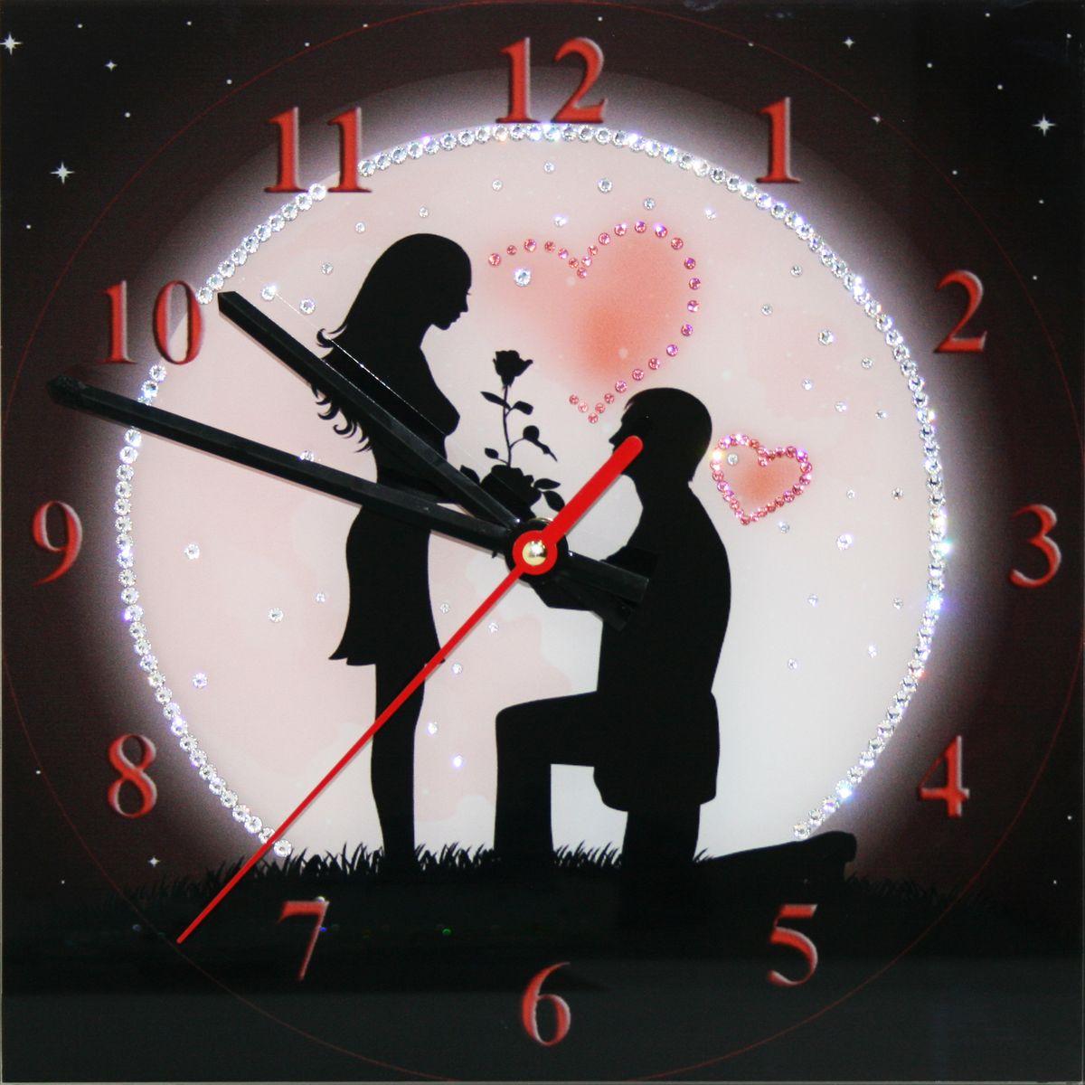 1649 Часы СваровскиПод луной1649Часы без багета, инкрустированные кристалами Сваровски.