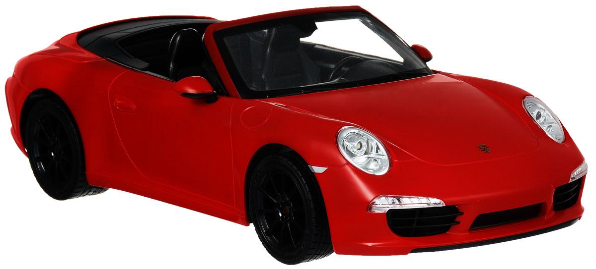 Rastar Радиоуправляемая модель Porsche 911 Carrera S цвет красный47700_красныйРадиоуправляемая модель Rastar Porsche 911 Carrera S станет отличным подарком любому мальчику! Все дети хотят иметь в наборе своих игрушек ослепительные, невероятные и крутые автомобили на радиоуправлении. Тем более, если это автомобиль известной марки с проработкой всех деталей, удивляющий приятным качеством и видом. Одной из таких моделей является автомобиль на радиоуправлении Rastar Porsche 911 Carrera S. Это точная копия настоящего авто в масштабе 1:12. Авто обладает неповторимым провокационным стилем и спортивным характером. Потрясающая маневренность, динамика и покладистость - отличительные качества этой модели. Возможные движения: вперед, назад, вправо, влево, остановка. Имеются световые эффекты. Пульт управления работает на частоте 27 MHz. Для работы игрушки необходимы 5 батареек типа АА (не входят в комплект). Для работы пульта управления необходима 1 батарейка 9V (6F22) (не входит в комплект).
