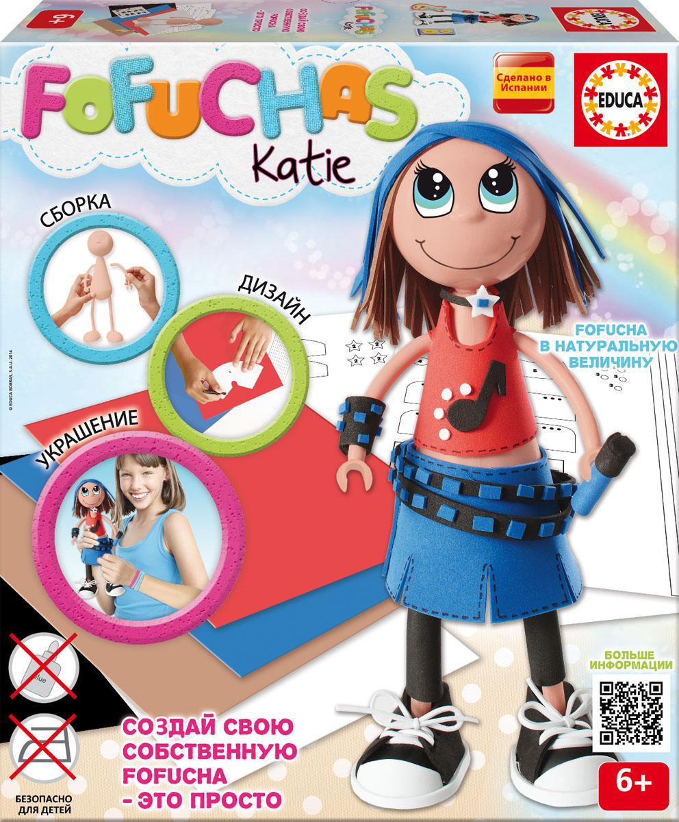 Фофуча Кати - набор для творчества в виде куклы16449Набор для творчества - детская игрушка в виде куклы в разобранном виде, в комплект входит: сборное пластиковое тело, бумага EVA разных цветов, двухсторонний скотч, схемы, картонные детали, самоклеящиеся глаза и рот, инструкция. Состав: картон, бумага, пластик, этилен винил ацетат, полимерный материал. Игрушка предназначена для детей от 6 лет. Высота куклы 30см