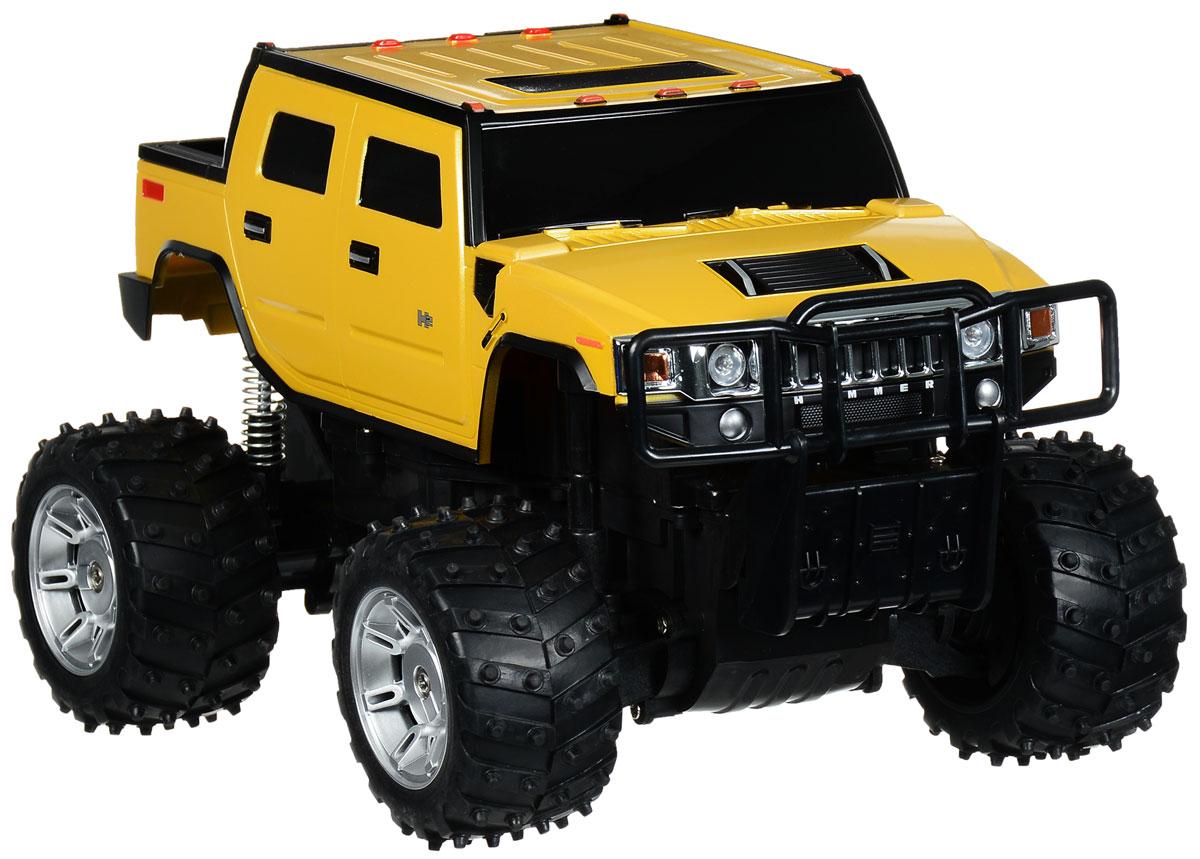 Rastar Радиоуправляемая модель Hummer H2 цвет желтый масштаб 1:1428100, 28800_желтыйРадиоуправляемая модель Rastar Hummer H2 станет отличным подарком любому мальчику! Все дети хотят иметь в наборе своих игрушек ослепительные, невероятные и крутые автомобили на радиоуправлении. Тем более, если это автомобиль известной марки с проработкой всех деталей, удивляющий приятным качеством и видом. Одной из таких моделей является автомобиль на радиоуправлении Rastar Hummer H2. Это точная копия настоящего авто в масштабе 1:14. Автомобиль отличается потрясающей маневренностью, динамикой и покладистостью. Возможные движения: вперед, назад, вправо, влево, остановка. Имеются световые эффекты. Пульт управления работает на частоте 27 MHz. Для работы игрушки необходим аккумулятор (входят в комплект). Для работы пульта управления необходима 1 батарейка 9V (6F22) (не входит в комплект).