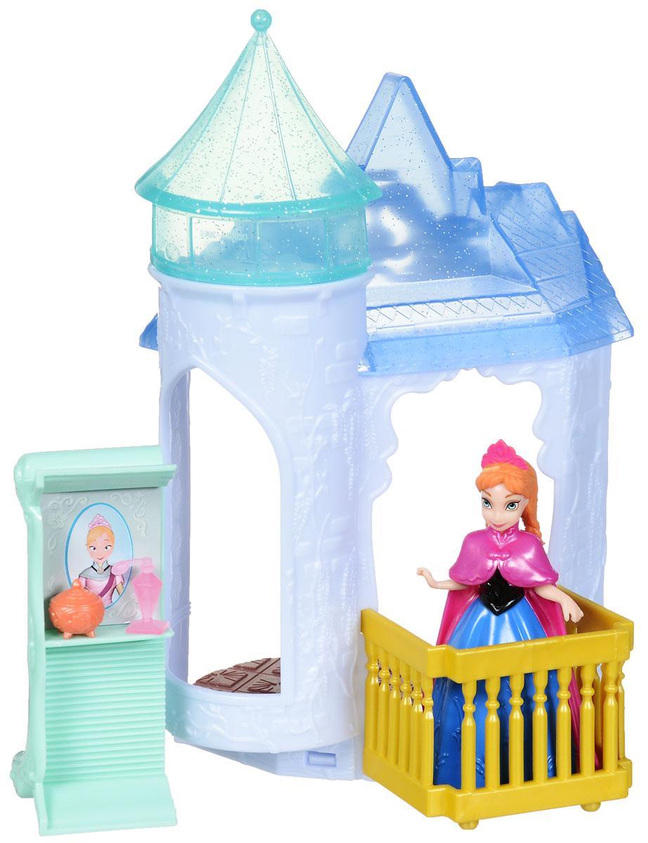 Disney Frozen Игровой набор Дворец АнныCJV52(BDK34/CCX95)_АннаИгровой набор Disney Frozen Дворец Анны станет отличным подарком для девочки. Дворец создан в классическом стиле и так похож на традиционные жилища принцесс из волшебных сказок. У дворца есть ледяная крыша, балкон, на который Анна может выходить, кухонная утварь, удобный диван, который может трансформироваться в шкаф с зеркалом. Наряд Анны легко одевается и снимается благодаря технологии MagicClip. В комплект также входит фигурка принцессы Анны. Набор совместим с другими наборами Disney Frozen. Ваша малышка будет часами играть с этим замечательным набором, воспроизводя сцены из мультфильма и придумывая новые!