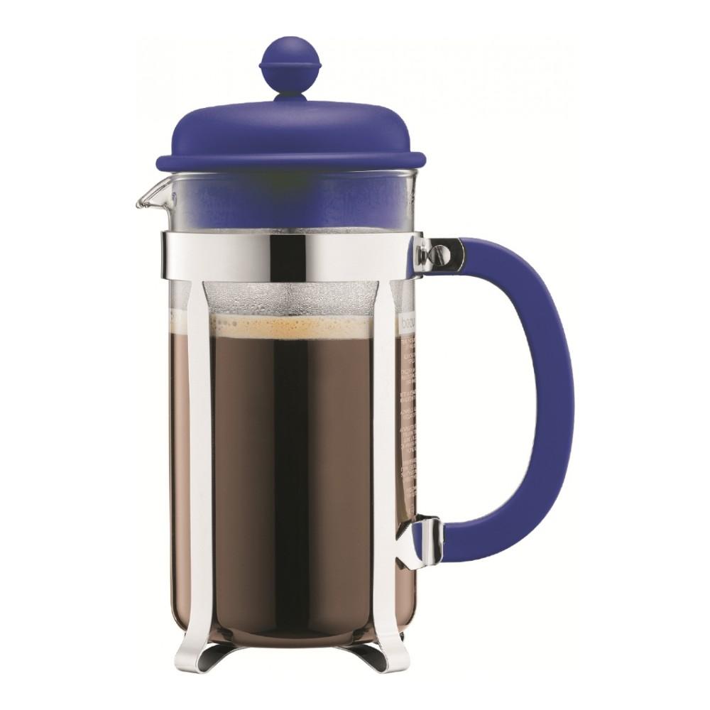 Кофейник с прессом Caffettiera 0.35 л син., арт.A1913-528-Y15A1913-528-Y15Материал: стекло;коррозионностойкая сталь;пластик