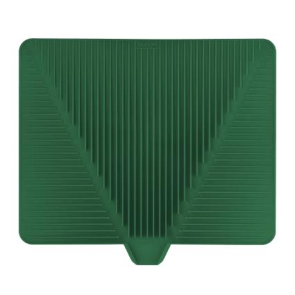 Сушилка для посуды Bodum Bistro, цвет: темно-зеленый, 38 х 30 смA11548-825-Y15Эластичная сушилка для посуды Bodum Bistro, выполненная из гибкого силикона, защитит кухонную столешницу от влаги. Благодаря ребристой поверхности, которая расположена под наклоном, вода стекает в одну сторону. Направьте боковой носик в раковину и вода будет стекать туда. Если рядом раковины нет, то используйте обратную сторону сушилки, которая будет просто собирать воду внутри. Ваша посуда высохнет быстрее, если после мойки вы поместите ее на легкую, современную сушилку. Сушилка для посуды Bodum Bistro станет незаменимым атрибутом на вашей кухне.