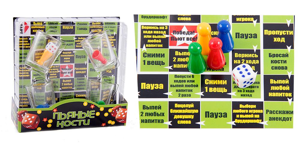 Игра настольная Русские Подарки Пьяные кости, размер 15х15х4 см. 4243142431
