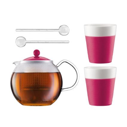 Набор чайный Bodum Assam 1.0 л 5 предметов розов., арт.AK1830-634-Y15AK1830-634-Y15Материал: коррозионностойкая сталь;пластик;стекло;фарфор