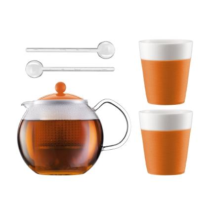 Набор чайный Bodum Assam 1.0 л 5 предметов оранж., арт.AK1830-116-Y15AK1830-116-Y15Материал: коррозионностойкая сталь;пластик;стекло;фарфор