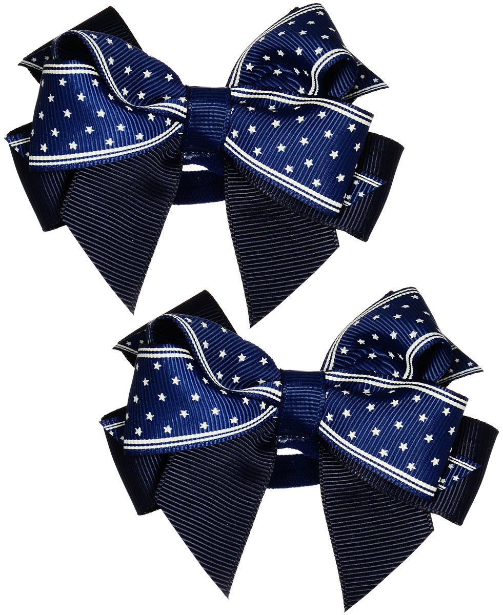 Резинка для волос Baby\'s Joy, цвет: темно-синий, 2 шт. MN 121/2 ( MN 121/2_синий/т.синий )