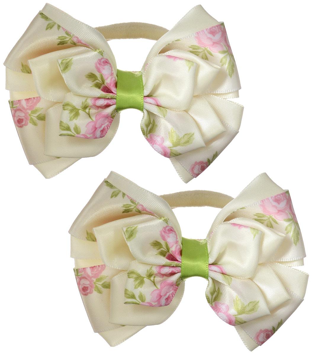 Резинка для волос Babys Joy, цвет: кремовый, 2 шт. MN 143/2MN 143/2_кремовыйРезинка для волос Babys Joy выполнена в форме банта-бабочки из текстиля и дополнена милым бантиком, который оформлен цветочным принтом. Резинка для волос Babys Joy надежно зафиксирует волосы и подчеркнет красоту прически вашей маленькой модницы.