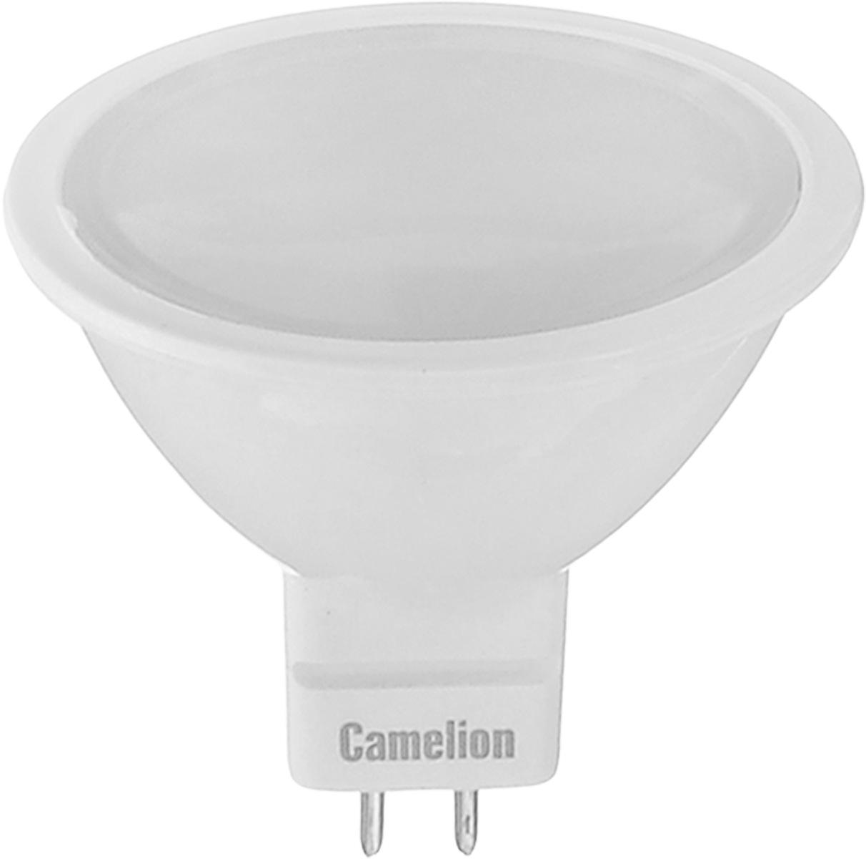 Лампа светодиодная Camelion, теплый свет, цоколь GU5.3, 5W5-MR16/830/GU5.3Энергосберегающая лампа Camelion - это инновационное решение, разработанное на основе новейших светодиодных технологий (LED) для эффективной замены любых видов галогенных или обыкновенных ламп накаливания во всех типах осветительных приборов. Она хорошо подойдет для освещения квартир, гостиниц и ресторанов. Лампа не содержит ртути и других вредных веществ, экологически безопасна и не требует утилизации, не выделяет при работе ультрафиолетовое и инфракрасное излучение. Напряжение: 12 В. Индекс цветопередачи (Ra): 77+. Угол светового пучка: 100°. Использовать при температуре: от -30° до +40°.