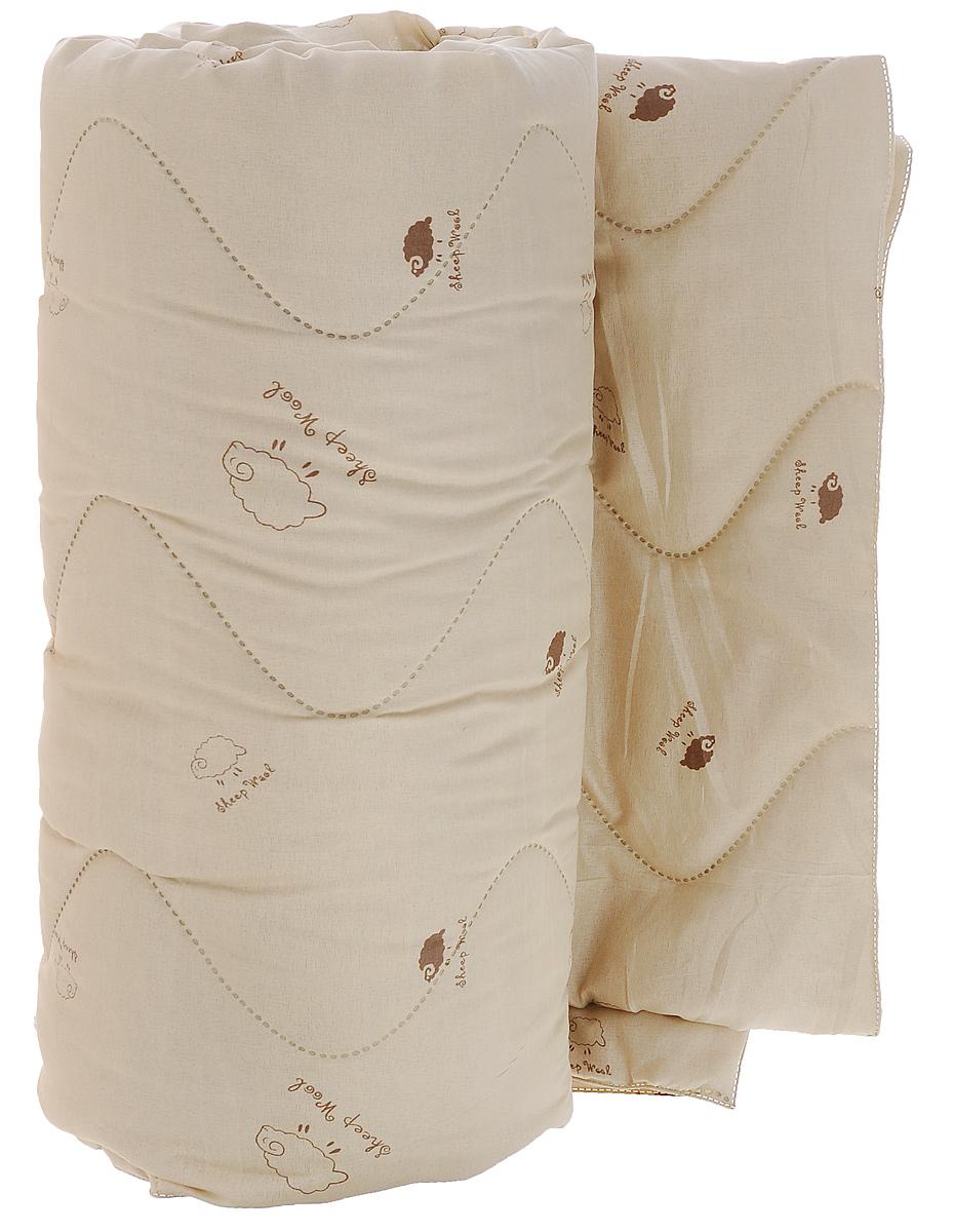 Одеяло Подушкино Овечье, наполнитель: шерсть, вискоза, 172 х 205 см120619051Одеяло Подушкино Овечье окутает вас своим теплом и нежностью. Чехол одеяла изготовлен из ткани нового поколения Биософт (полиэстер) с тиснением и бархатистой фактурой. Данный материал обладает повышенной износостойкостью и практичностью. Внутри - наполнитель из шерсти и вискозы. Натуральная шерсть стимулирует кровообращение и облегчает мышечные боли. Отличная терморегуляция, которая обеспечивает здоровый и комфортный сон. Материал чехла: биософт (100% полиэстер). Материал наполнителя: 40% шерсть, 60 вискоза. Рекомендации по уходу: - Ручная стирка при температуре 30°С. - Не гладить. - Не отбеливать. - Сушить при низкой температуре. - Химчистка.